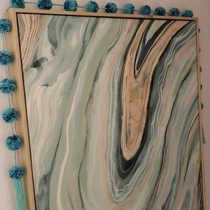 Agate Design Framed Art Print